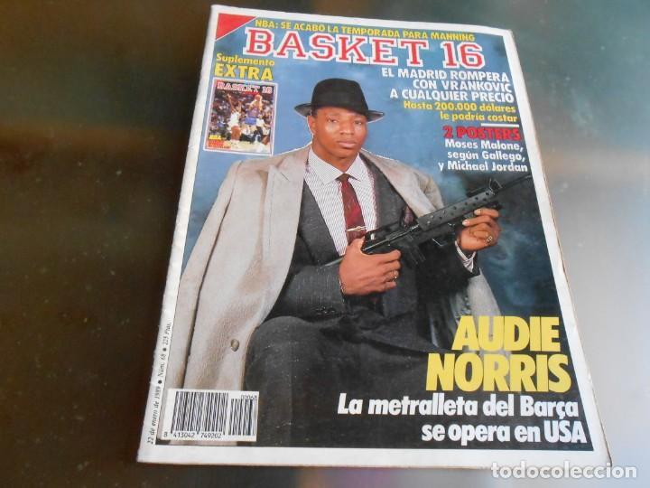 REVISTA BASKET 16, Nº 68 (22 DE ENERO DE 1989), NORRIS, LA METRALLETA - NO POSTERS NI SUPLEMENTO - (Coleccionismo Deportivo - Revistas y Periódicos - otros Deportes)