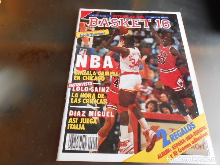 REVISTA BASKET 16, Nº 17 (31 DE ENERO DE 1988), NBA: BATALA CAMPAL EN CHICAGO (Coleccionismo Deportivo - Revistas y Periódicos - otros Deportes)