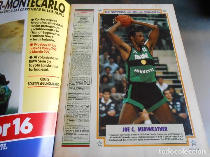 Coleccionismo deportivo: REVISTA BASKET 16, Nº 17 (31 de Enero de 1988), NBA: BATALA CAMPAL EN CHICAGO - Foto 2 - 211557487