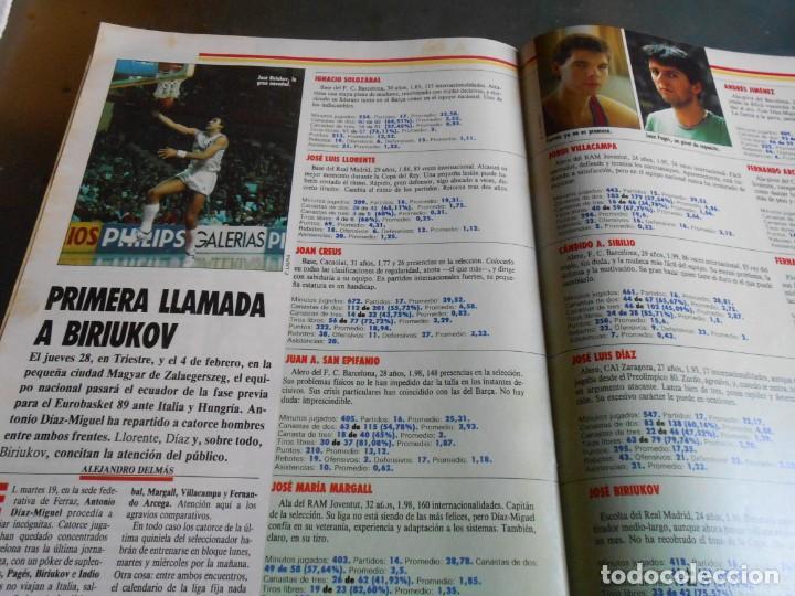 Coleccionismo deportivo: REVISTA BASKET 16, Nº 17 (31 de Enero de 1988), NBA: BATALA CAMPAL EN CHICAGO - Foto 9 - 211557487
