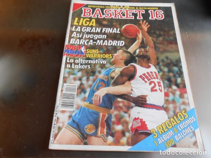 REVISTA BASKET 16, Nº 85 (21 DE MAYO DE 1989), LIGA, LA GRAN FINAL, ASI JUEGAN BARÇA - MADRID (Coleccionismo Deportivo - Revistas y Periódicos - otros Deportes)