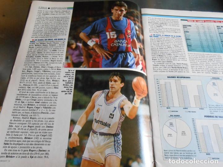 Coleccionismo deportivo: REVISTA BASKET 16, Nº 85 (21 de Mayo de 1989), LIGA, LA GRAN FINAL, ASI JUEGAN BARÇA - MADRID - Foto 4 - 211558175