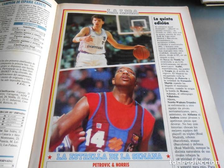 Coleccionismo deportivo: REVISTA BASKET 16, Nº 85 (21 de Mayo de 1989), LIGA, LA GRAN FINAL, ASI JUEGAN BARÇA - MADRID - Foto 8 - 211558175