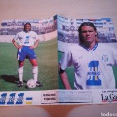 Coleccionismo deportivo: FERNANDO REDONDO - CD TENERIFE - LA GACETA. Lote 211733778
