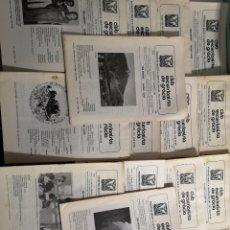 Coleccionismo deportivo: EXCURSIONISTA DE GRACIA / LOTE DE 18 BOLETINES SOCIALES DIVERSOS AÑOS. Lote 212131036