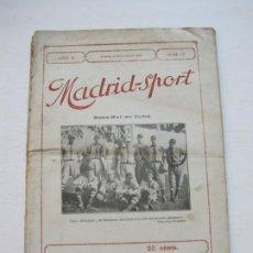 Coleccionismo deportivo: MADRID SPORT-REVISTA ANTIGUA-NOVIEMBRE 1918-Nº 111-BASEBALL EN CUBA,FUTBOL...-VER FOTOS-(V-21.514). Lote 212639197