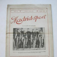 Coleccionismo deportivo: MADRID SPORT-REVISTA ANTIGUA-OCTUBRE 1918-Nº 109-CICLISMO EN BALEARES,FUTBOL...-VER FOTOS-(V-21.515). Lote 212639457