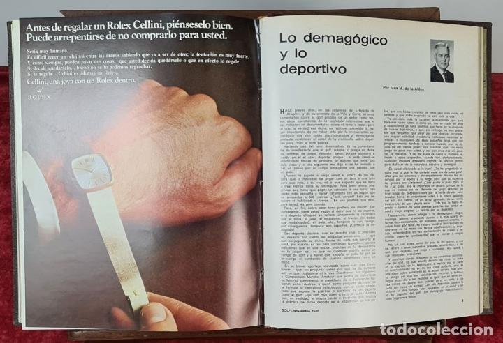 Coleccionismo deportivo: REVISTA DE LA FEDERACIÓN ESPAÑOLA DE GOLF. 77 NÚMEROS ENCUADERNADOS. 1968-1974. - Foto 2 - 213247347