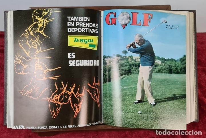 Coleccionismo deportivo: REVISTA DE LA FEDERACIÓN ESPAÑOLA DE GOLF. 77 NÚMEROS ENCUADERNADOS. 1968-1974. - Foto 3 - 213247347