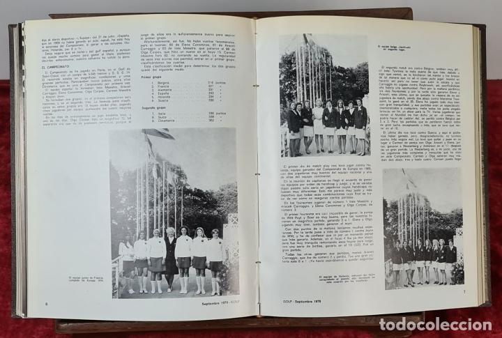 Coleccionismo deportivo: REVISTA DE LA FEDERACIÓN ESPAÑOLA DE GOLF. 77 NÚMEROS ENCUADERNADOS. 1968-1974. - Foto 4 - 213247347