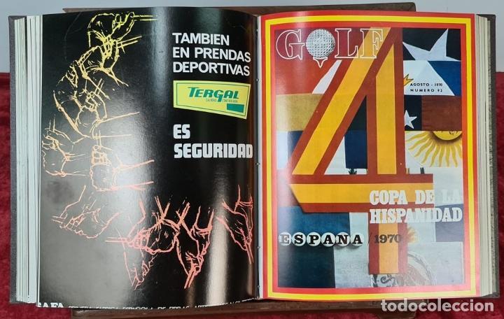 Coleccionismo deportivo: REVISTA DE LA FEDERACIÓN ESPAÑOLA DE GOLF. 77 NÚMEROS ENCUADERNADOS. 1968-1974. - Foto 5 - 213247347