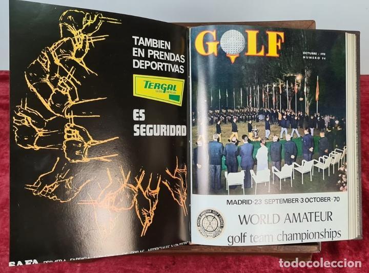 Coleccionismo deportivo: REVISTA DE LA FEDERACIÓN ESPAÑOLA DE GOLF. 77 NÚMEROS ENCUADERNADOS. 1968-1974. - Foto 7 - 213247347