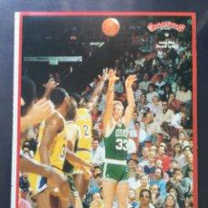 Coleccionismo deportivo: COLECCIÓN PEGATINA GIGANTES DEL BASKET 5 LARRY BIRD NBA BALONCESTO NUNCA PEGADA. Lote 213521237