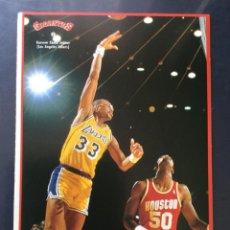 Coleccionismo deportivo: COLECCIÓN PEGATINA GIGANTES DEL BASKET 2 KAREEM ABDUL JABBER NBA BALONCESTO NUNCA PEGADA. Lote 213521298