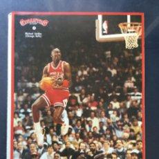 Coleccionismo deportivo: COLECCIÓN PEGATINA GIGANTES DEL BASKET 1 MICHAEL JORDAN AIR (CHICAGO BULLS) NBA NUNCA PEGADA. Lote 213521315