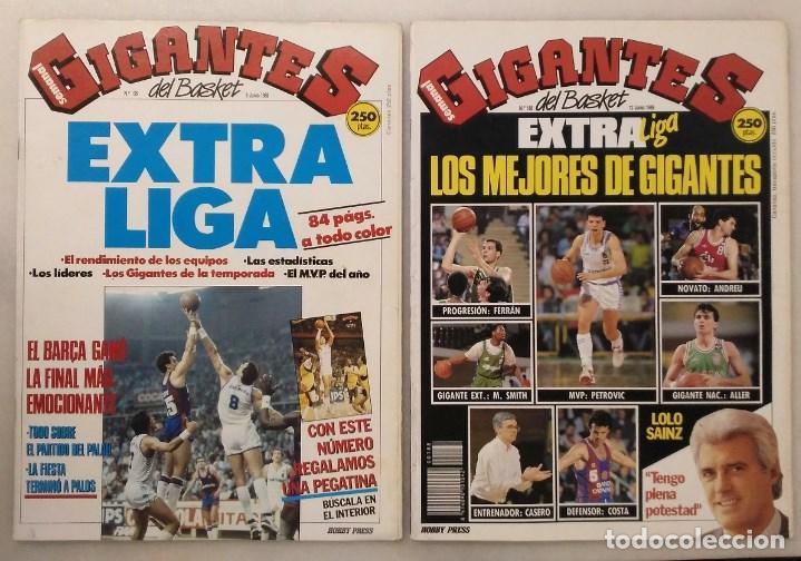 REVISTAS ''GIGANTES DEL BASKET'' - EXTRAS LIGA ACB DE 1988 Y 1989 (Coleccionismo Deportivo - Revistas y Periódicos - otros Deportes)