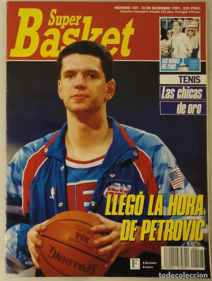 Coleccionismo deportivo: Drazen Petrovic - Colección de revistas Gigantes del Basket y Superbasket (1986-1993) - Foto 27 - 166853230