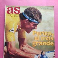 Coleccionismo deportivo: REVISTA AS COLOR - 1988 PERICO DELGADO GANADOR TOUR DE FRANCIA 88 REYNOLDS - POSTER NBA - BUBKA. Lote 214627475