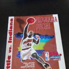 Coleccionismo deportivo: PROGRAMA OFICIAL DEL TOUR DE LA NBA POR EUROPA DEL AÑO 1996 ENTRE LOS SEATTLE SUPERSONICS PACERS. Lote 214627701