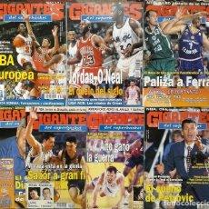 Coleccionismo deportivo: MICHAEL JORDAN - LOTE DE SIETE REVISTAS ''GIGANTES DEL BASKET'' (1995-1996). Lote 214958397