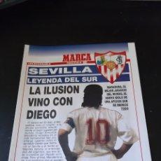 Coleccionismo deportivo: FASCÍCULO 15 SEVILLA LEYENDA DEL SUR LA ILUSION VINO CON DIEGO MARADONA COLECCIONABLE MARCA. Lote 214983092