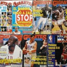 Coleccionismo deportivo: MICHAEL JORDAN - LOTE DE SIETE REVISTAS ''GIGANTES DEL BASKET'' (AÑOS 90). Lote 215048860