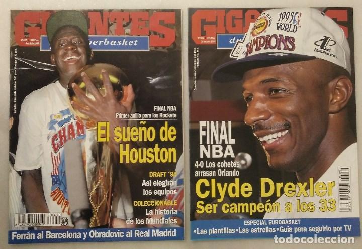 REVISTAS ''GIGANTES DEL BASKET'' - HOUSTON ROCKETS, CAMPEONES NBA DE 1994 Y 1995 (Coleccionismo Deportivo - Revistas y Periódicos - otros Deportes)