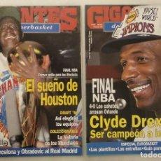 Coleccionismo deportivo: REVISTAS ''GIGANTES DEL BASKET'' - HOUSTON ROCKETS, CAMPEONES NBA DE 1994 Y 1995. Lote 215687693