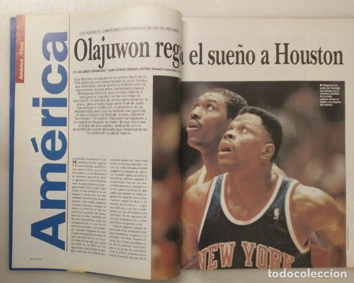 Coleccionismo deportivo: Revistas Gigantes del Basket - Houston Rockets, campeones NBA de 1994 y 1995 - Foto 3 - 215687693