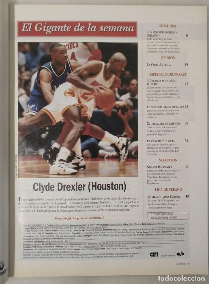 Coleccionismo deportivo: Revistas Gigantes del Basket - Houston Rockets, campeones NBA de 1994 y 1995 - Foto 5 - 215687693
