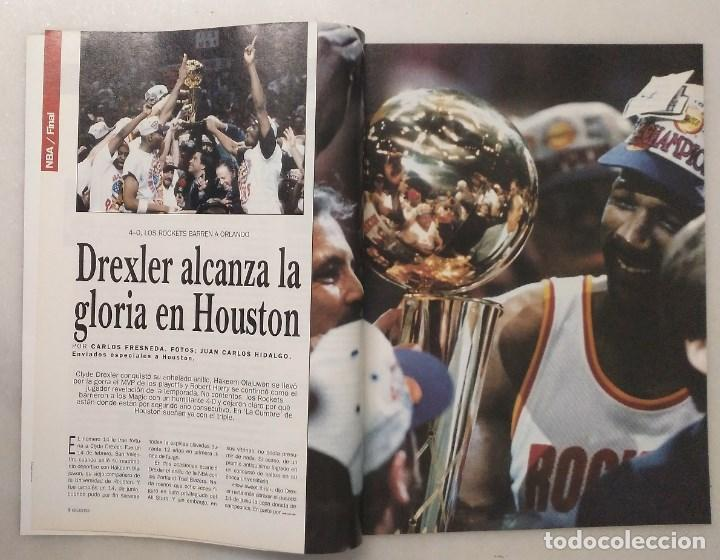 Coleccionismo deportivo: Revistas Gigantes del Basket - Houston Rockets, campeones NBA de 1994 y 1995 - Foto 6 - 215687693