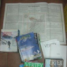Coleccionismo deportivo: VERTEX REVISTA D'ENTITATS EXCURSIONISTES DE CATALUNYA. 66 REVISTAS + MAPA. Lote 215987767