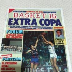 Coleccionismo deportivo: BASKET 16 N 11 EXTRA COPA POSTER FÓRUM 1987. Lote 216949868