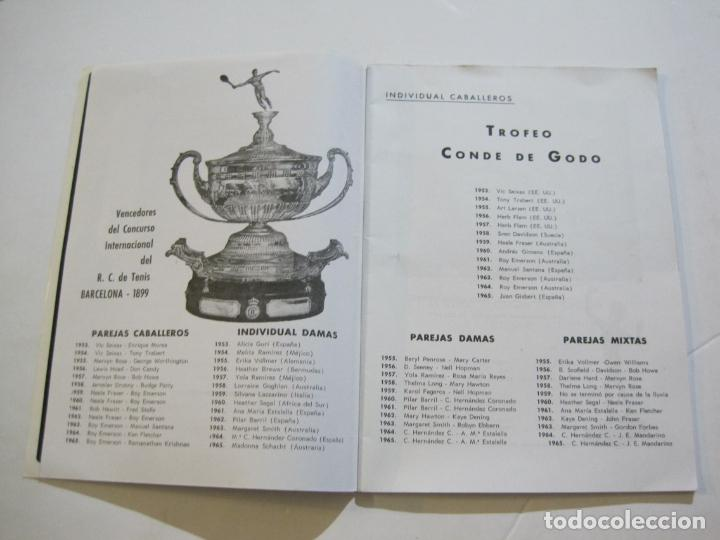 Coleccionismo deportivo: REAL CLUB DE TENIS BARCELONA-XXXIX CONCURS INTERNACIONAL-REVISTA TROFEO GODO 1966-VER FOTOS-(K-435) - Foto 5 - 218156331