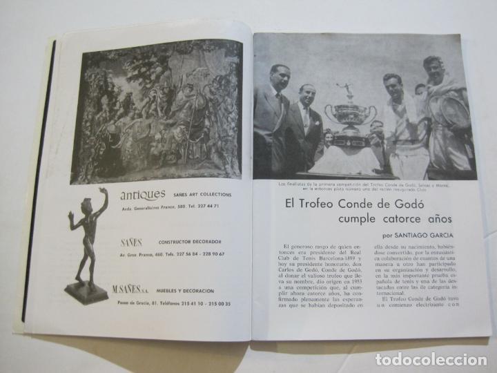 Coleccionismo deportivo: REAL CLUB DE TENIS BARCELONA-XXXIX CONCURS INTERNACIONAL-REVISTA TROFEO GODO 1966-VER FOTOS-(K-435) - Foto 6 - 218156331