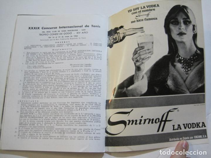 Coleccionismo deportivo: REAL CLUB DE TENIS BARCELONA-XXXIX CONCURS INTERNACIONAL-REVISTA TROFEO GODO 1966-VER FOTOS-(K-435) - Foto 13 - 218156331