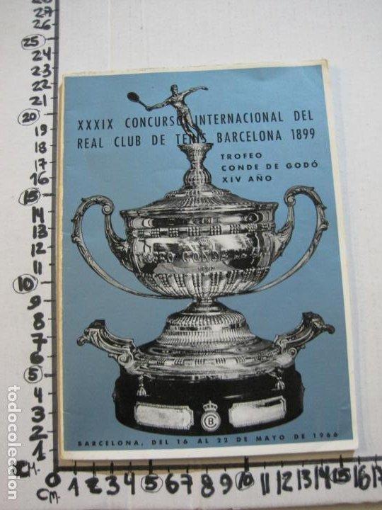 Coleccionismo deportivo: REAL CLUB DE TENIS BARCELONA-XXXIX CONCURS INTERNACIONAL-REVISTA TROFEO GODO 1966-VER FOTOS-(K-435) - Foto 15 - 218156331