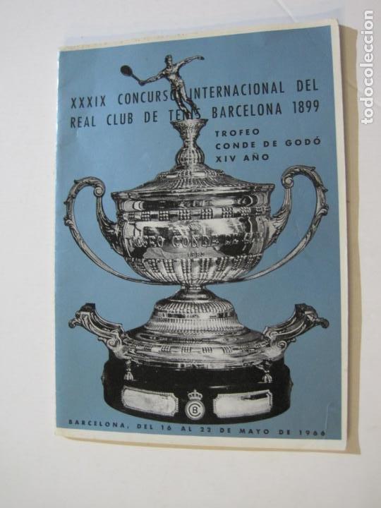 REAL CLUB DE TENIS BARCELONA-XXXIX CONCURS INTERNACIONAL-REVISTA TROFEO GODO 1966-VER FOTOS-(K-435) (Coleccionismo Deportivo - Revistas y Periódicos - otros Deportes)