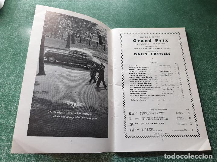 Coleccionismo deportivo: FOLLETO DEL 11th R.A.C. BRITISH - SILVERSTONE 19 JULY 1958. - Foto 2 - 218268380