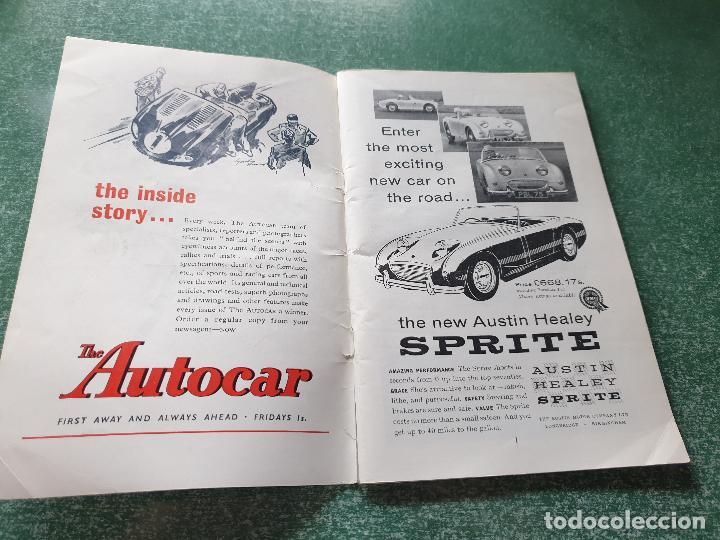 Coleccionismo deportivo: FOLLETO DEL 11th R.A.C. BRITISH - SILVERSTONE 19 JULY 1958. - Foto 3 - 218268380