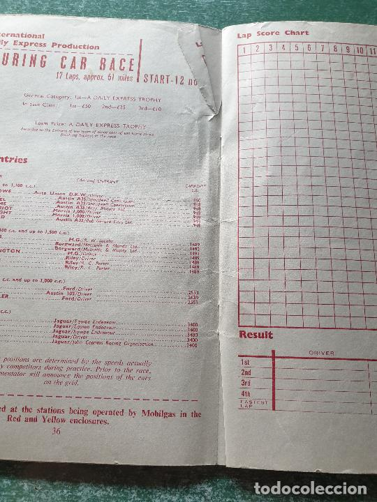 Coleccionismo deportivo: FOLLETO DEL 11th R.A.C. BRITISH - SILVERSTONE 19 JULY 1958. - Foto 5 - 218268380
