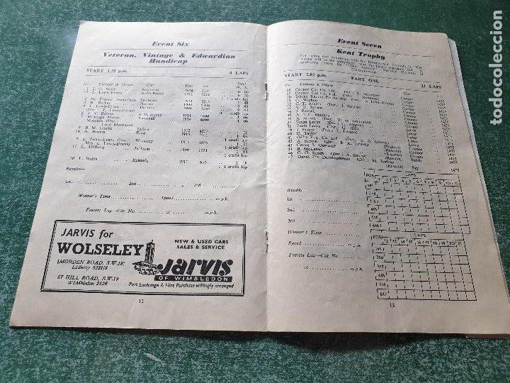 Coleccionismo deportivo: PROGRAMA OFICIAL BRANDS HATCH FORUMULA II AND II RACING CARS - 1958 - Foto 3 - 218268872