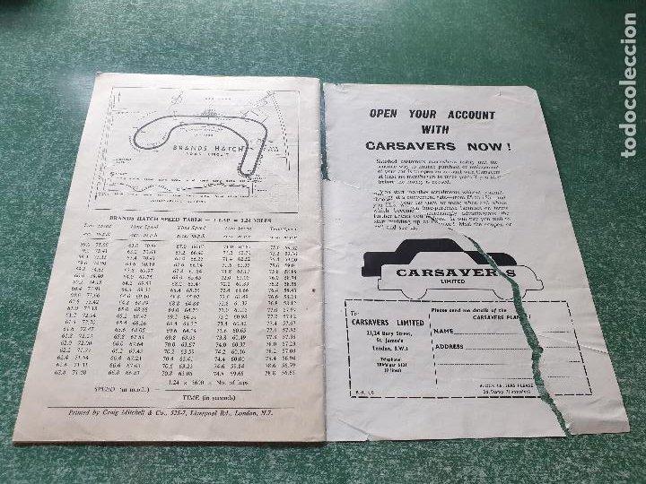 Coleccionismo deportivo: PROGRAMA OFICIAL BRANDS HATCH FORUMULA II AND II RACING CARS - 1958 - Foto 4 - 218268872