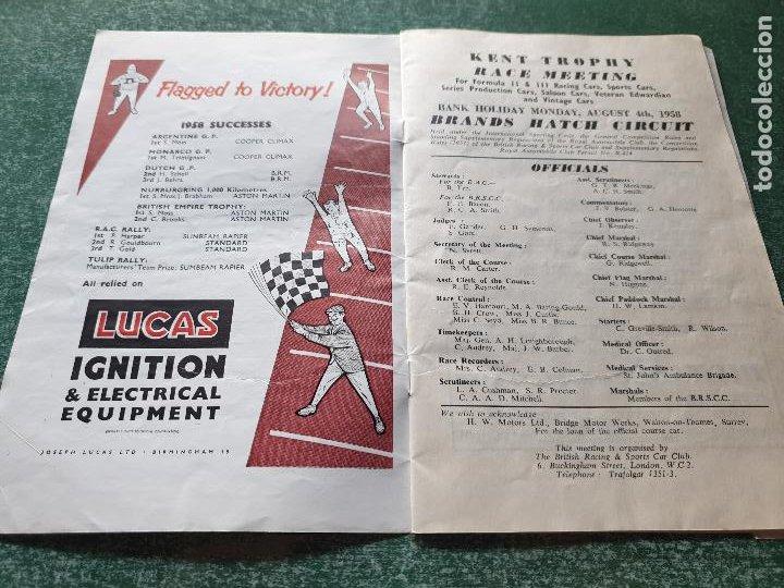 Coleccionismo deportivo: PROGRAMA OFICIAL BRANDS HATCH FORUMULA II AND II RACING CARS - 1958 - Foto 5 - 218268872