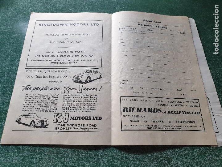 Coleccionismo deportivo: PROGRAMA OFICIAL BRANDS HATCH FORUMULA II AND II RACING CARS - 1958 - Foto 6 - 218268872