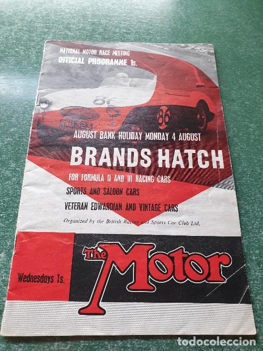 PROGRAMA OFICIAL BRANDS HATCH FORUMULA II AND II RACING CARS - 1958 (Coleccionismo Deportivo - Revistas y Periódicos - otros Deportes)