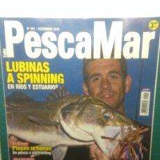 Coleccionismo deportivo: PESCAMAR Nº201 DICIEMBRE 2019 - LUBINAS A SPINNING - PLAYAS URBANAS - LA ALBACORA Y LA LIMANDA. Lote 218318651