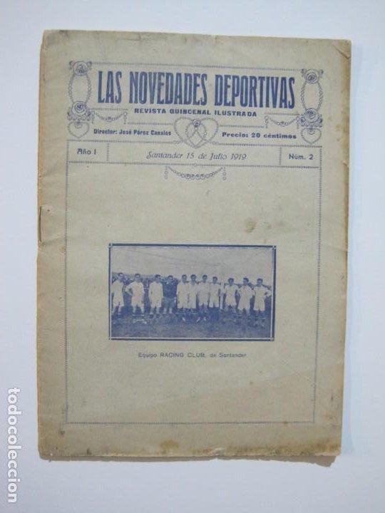 Coleccionismo deportivo: LAS NOVEDADES DEPORTIVAS-REVISTA QUINCENAL ILUSTRADA-MED. 15X21CM. SANTANDER AÑO 1919-NUM 2- (V-32) - Foto 2 - 26350037