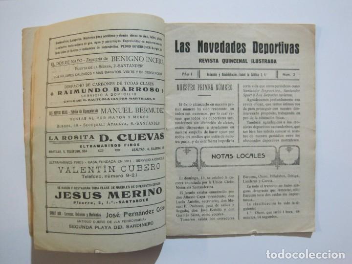 Coleccionismo deportivo: LAS NOVEDADES DEPORTIVAS-REVISTA QUINCENAL ILUSTRADA-MED. 15X21CM. SANTANDER AÑO 1919-NUM 2- (V-32) - Foto 6 - 26350037