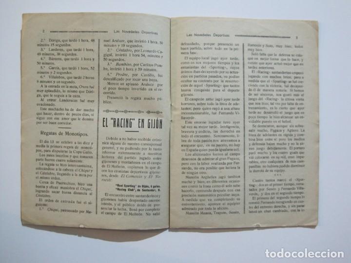 Coleccionismo deportivo: LAS NOVEDADES DEPORTIVAS-REVISTA QUINCENAL ILUSTRADA-MED. 15X21CM. SANTANDER AÑO 1919-NUM 2- (V-32) - Foto 7 - 26350037